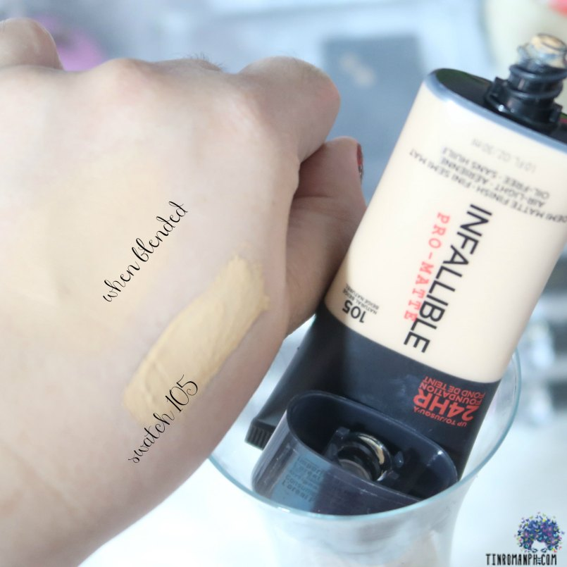 L'Oreal Infallible Pro-Matte 24HR Foundation SWATCHES!