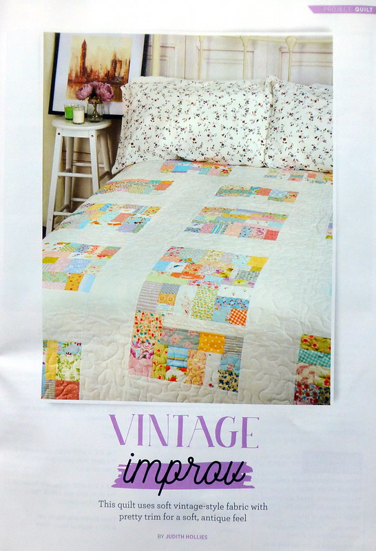 Vintage Improv Quilt (Quilt Now September17)