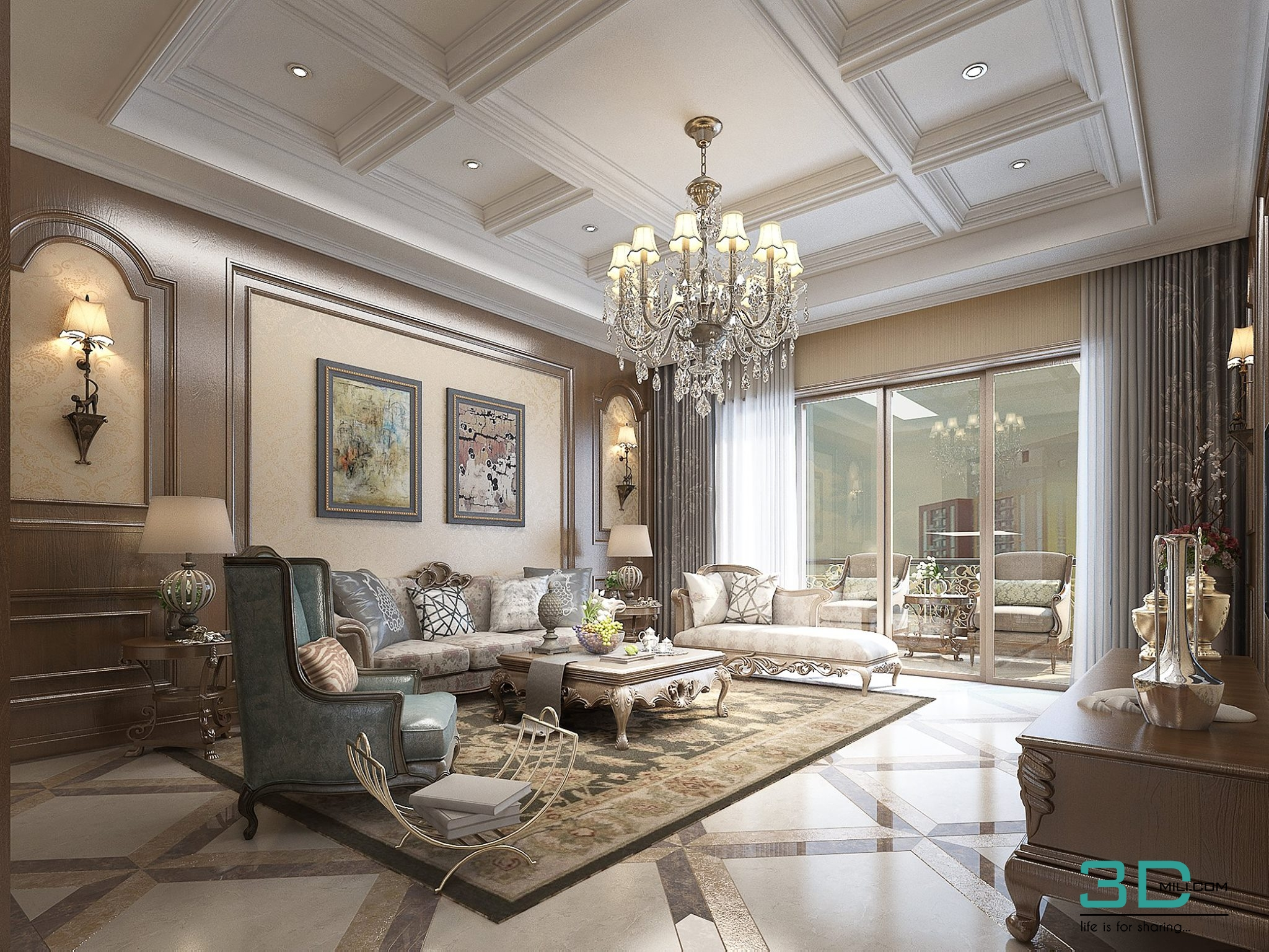 30 Living Room 30 3dsmax File Free Download 3D Mili