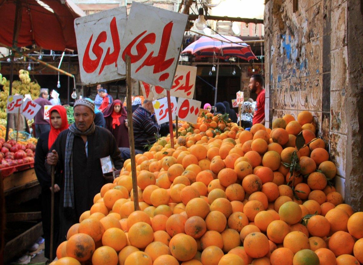 Mandarin is a winter fruit in Egypt