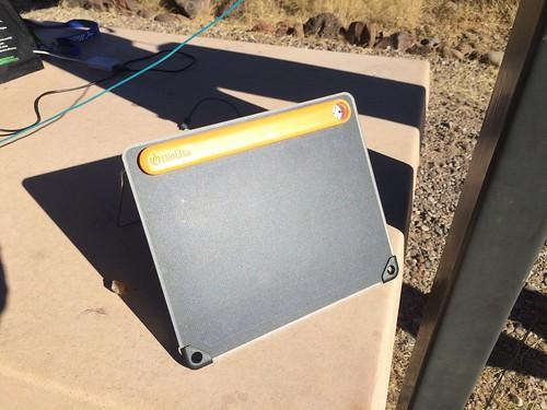 Gila Box Riverview Campground solar charging Biolite