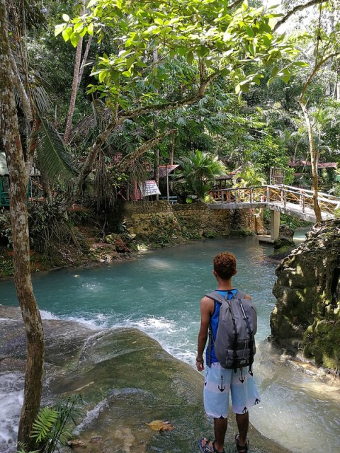 Samal Island Hagimit Falls back