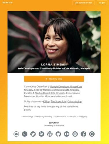 Website screen shot of LornaTimbah.com circa 2017