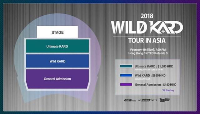 2018 WILD KARD TOUR IN ASIA to Hong Kong - Seating Plan