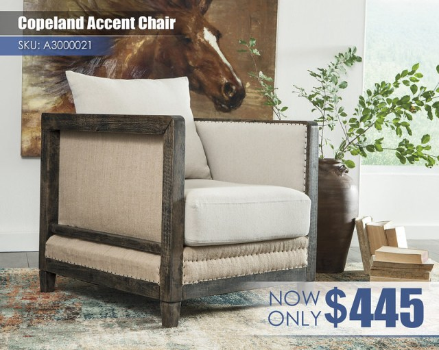 A3000021 - Copeland Accent Chair $445