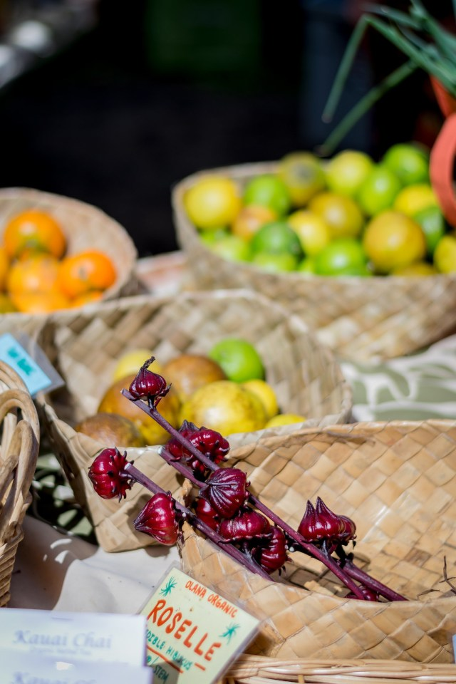the farmers markets have gorgeous tropical produce you'd never find on the mainland