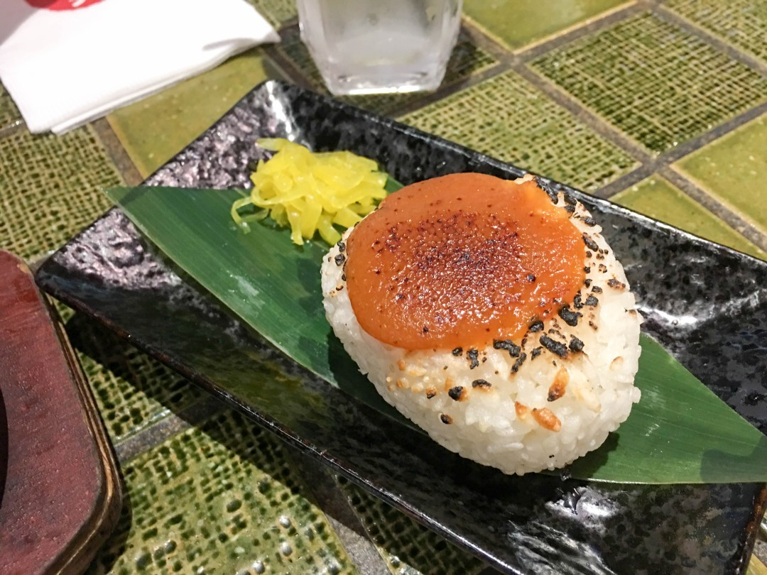 Grilled onigiri with miso