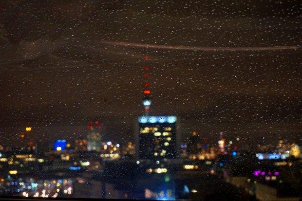 Berlin blurry skyline
