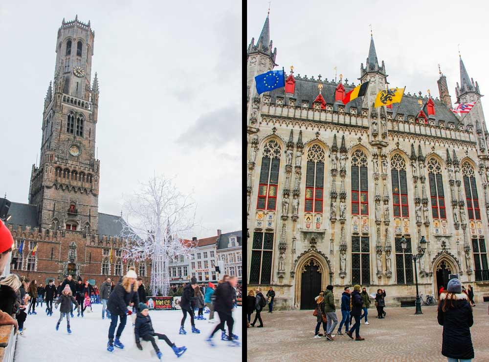 The markt, Brugge, Belgien
