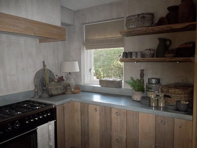 Houten keuken landelijk sober
