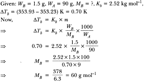 Important Questions for CBSE Class 12 Chemistry Solutions