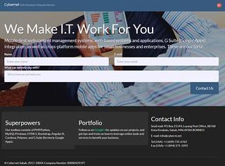 Website screen shot of Cybernt.net circa 2017