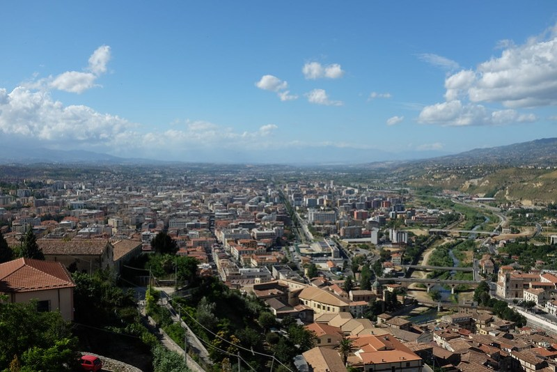 Cosenza seen from the Swabian Castle