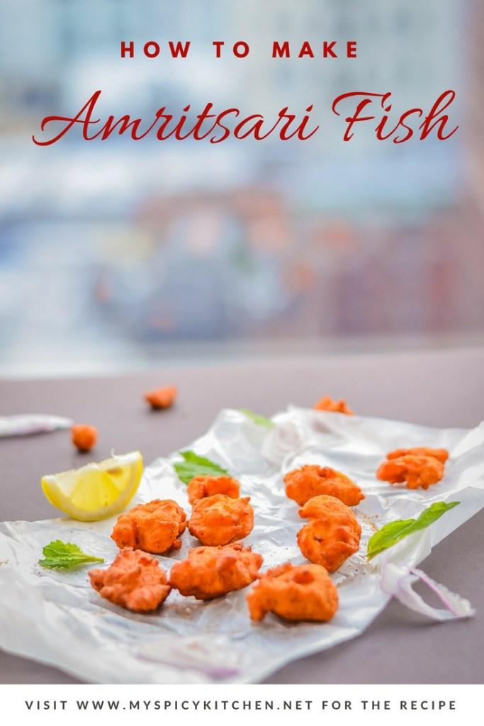 Amritsari Fish, Amritsari Fish Fry, Fish Fritters,  Blogging Marathon, Punjabi Cuisine