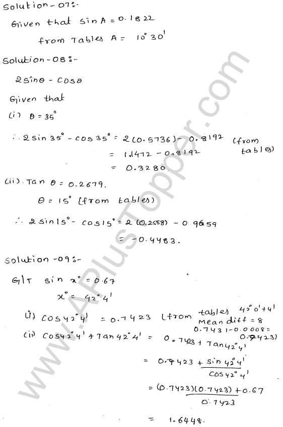 ml-aggarwal-icse-solutions-for-class-9-maths-ch-19-trigonometric- tables-8