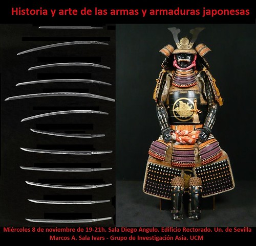 Cartel de la Conferencia sobre Historia y Arte de las armas y armaduras japonesas