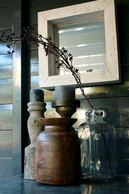 Vazen en kandelaars overkapping landelijke stijl