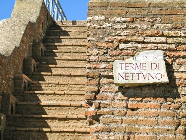 Termas en Ostia Antica