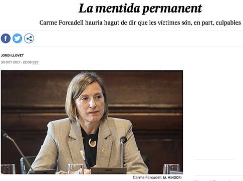 17k09 Forcadell La mentira permanente Uti 485