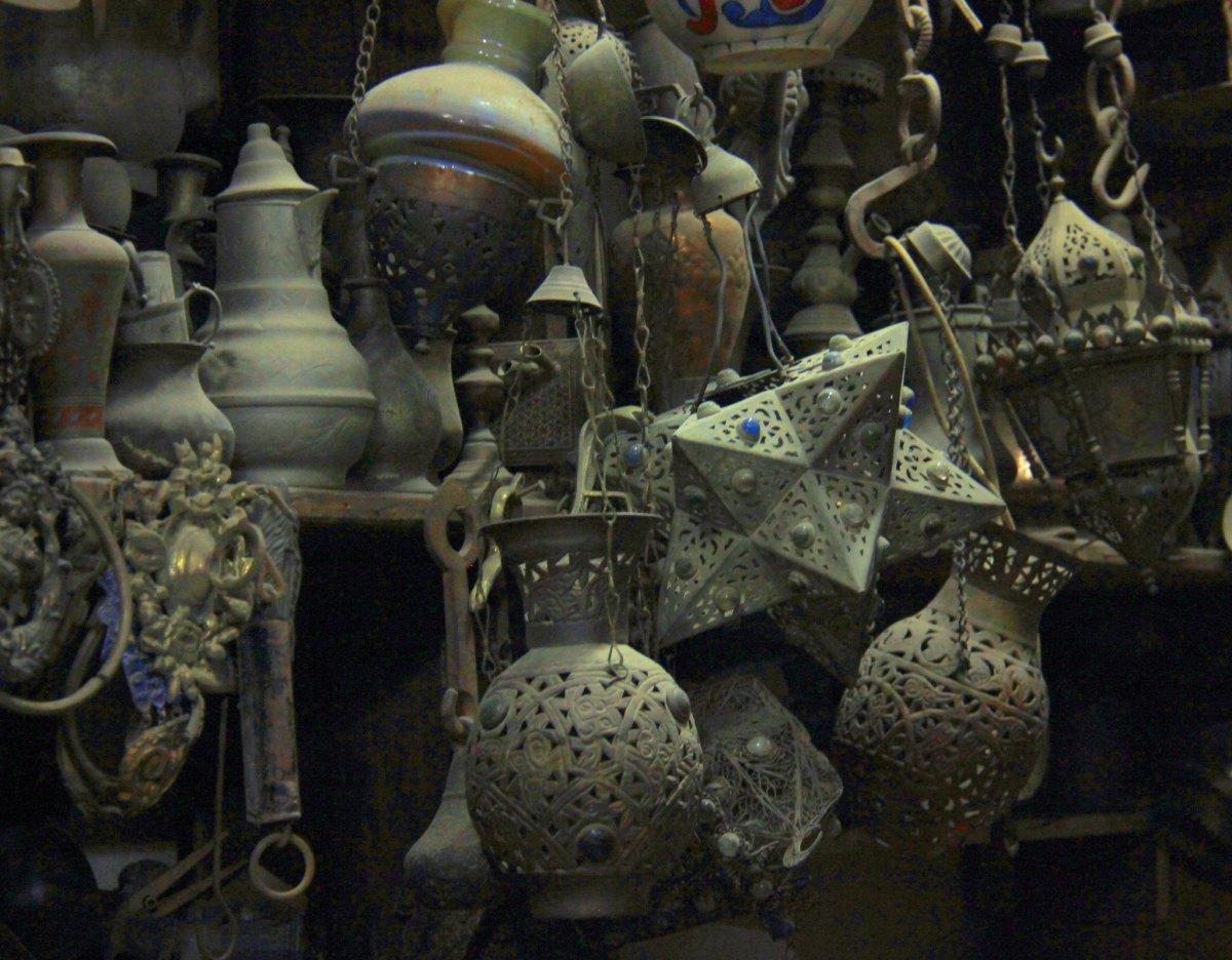 an antique shop at khan el khalili market