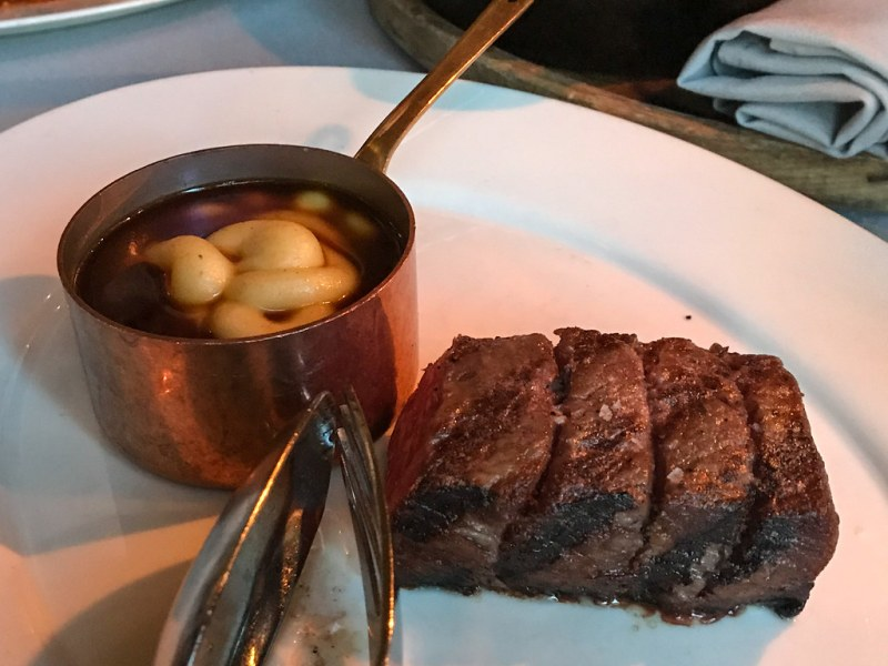 A Japanese Strip Loin, Black Truffle Potato Puree ($100)