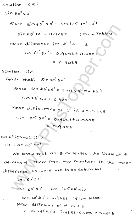 ml-aggarwal-icse-solutions-for-class-9-maths-ch-19-trigonometric- tables-2