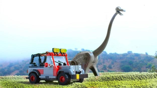 Lego Jeep Wrangler from Jurassic Park
