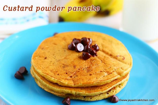 Custard powder pancake