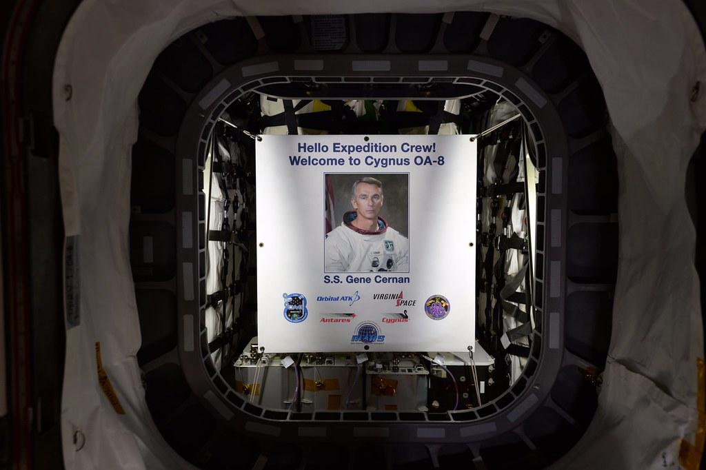 S.S. Gene Cernan Cygnus hatch open