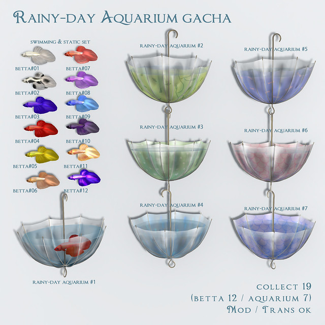 *NAMINOKE*Rainy-Day Aquarium Gacha