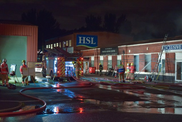 Small Factory Fire Meadow Industrial Estate [13/09/2017]