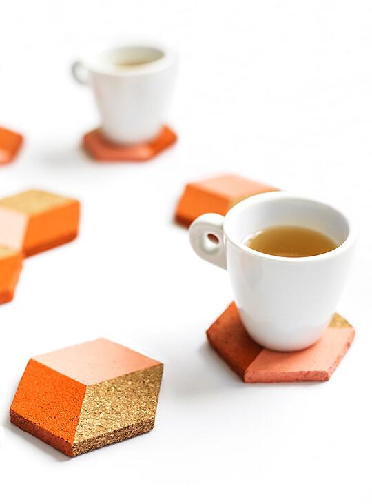 Sugar & Clothing Geometric Coasters DIY tutorial