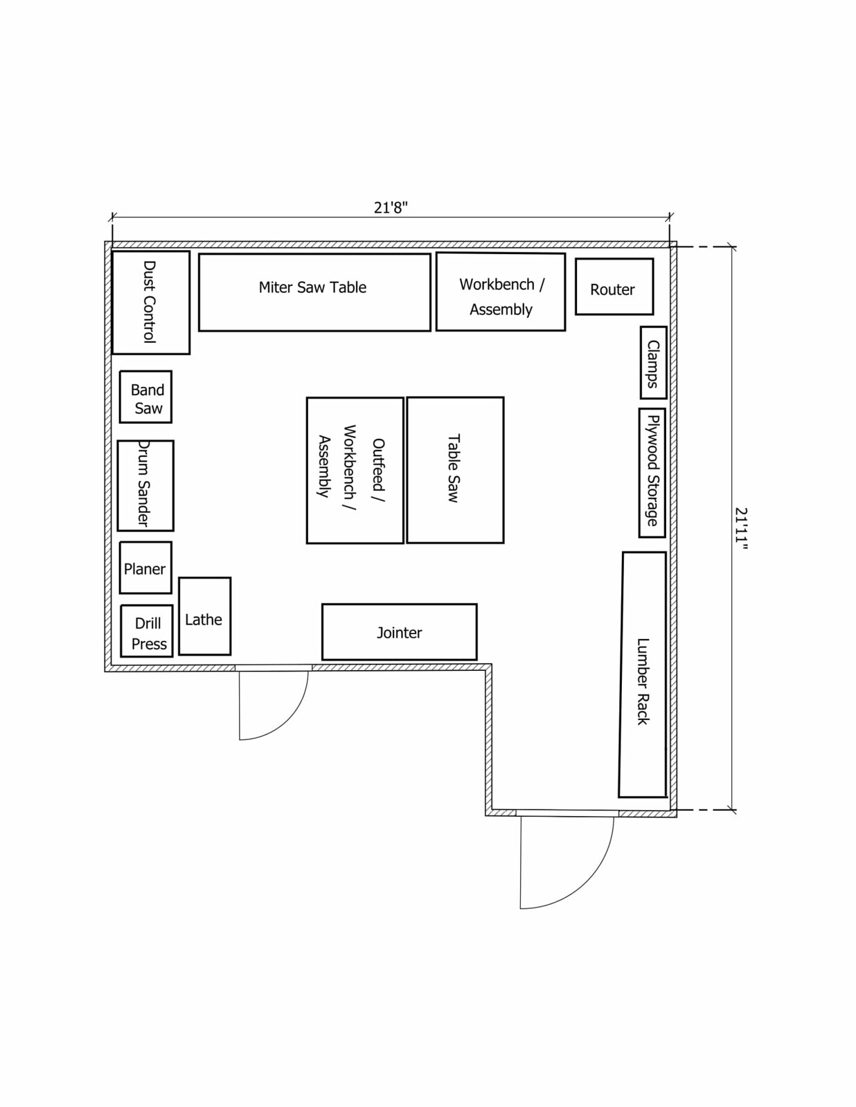 Help With New Woodshop Layout