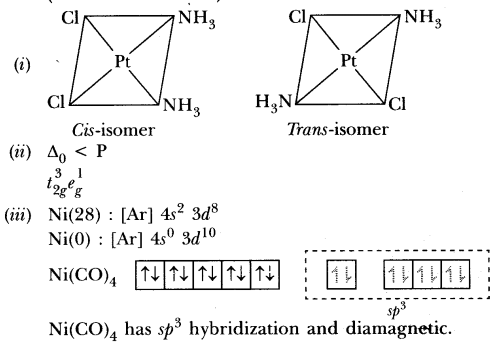 Important Questions for CBSE Class 12 Chemistry - Coordination