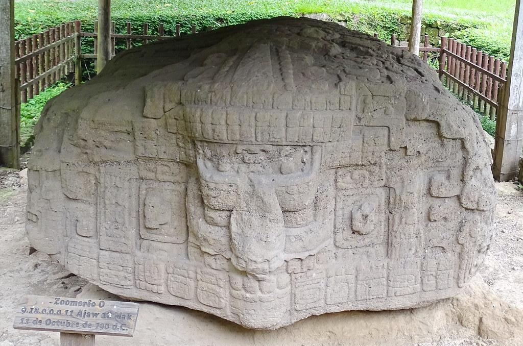Quirigua Zoomorfos Plaza Central Ciudad Maya Sitio Arqueologico Guatemala 07
