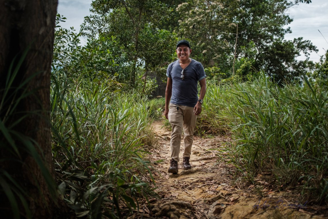 Hiking with Mohamad Hidayat Idin