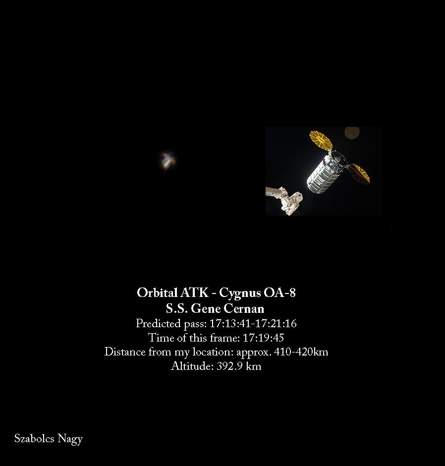 Cygnus OA-8 (Orbital ATK) - S.S. Gene Cernan