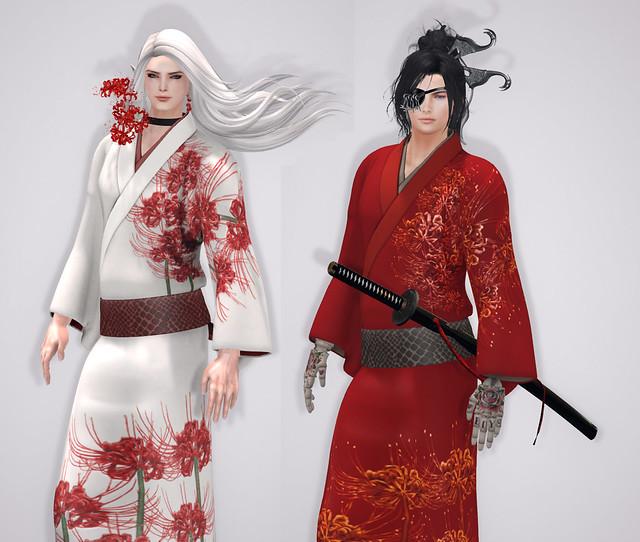 """ridi-ludi-fool & NAMINOKE Male Kimono """"RAN"""""""