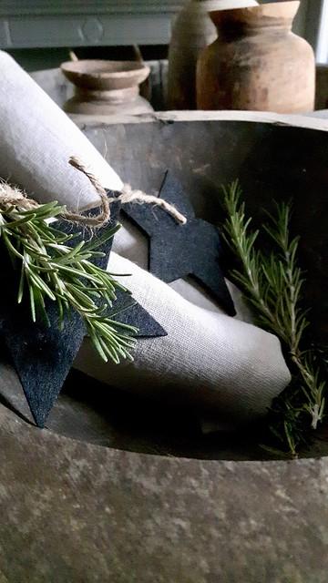 Linnen servetten ster kerst