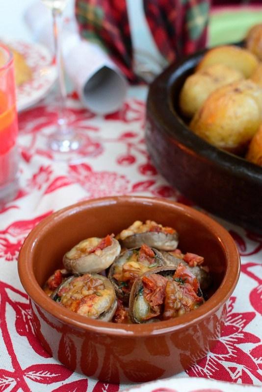 Mozatrella and sunblushed tomatoes stuffed mushrooms