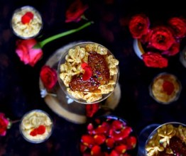 Carrot halwa mousse