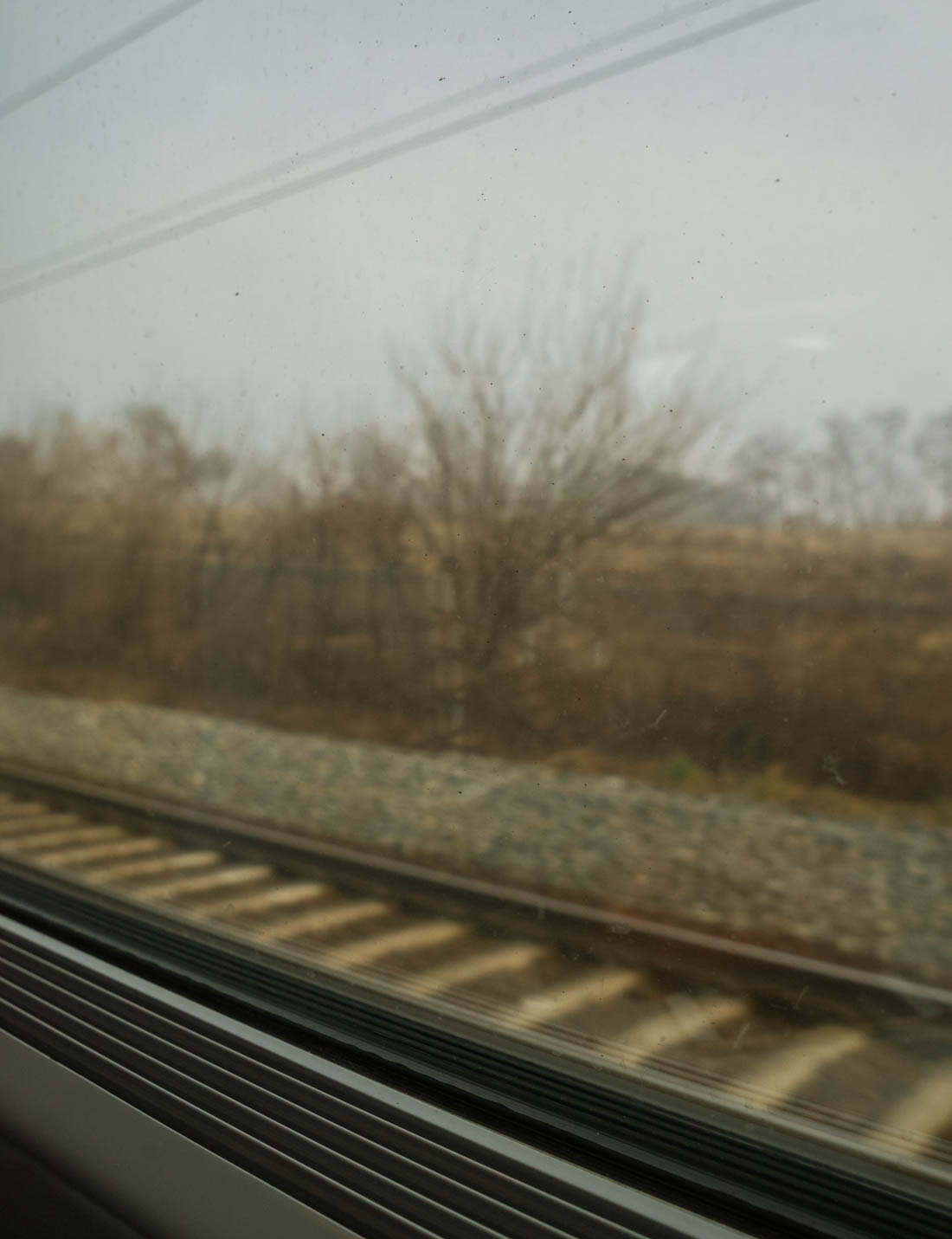 KTX Busan train window view