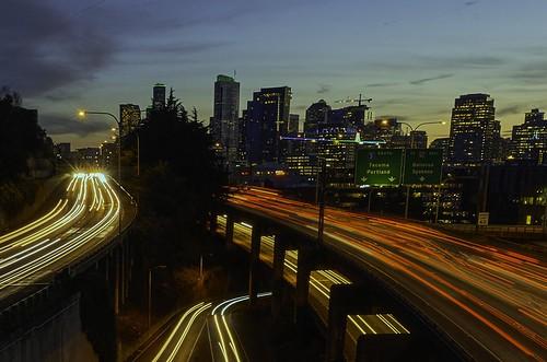 Car Trails   Seattle