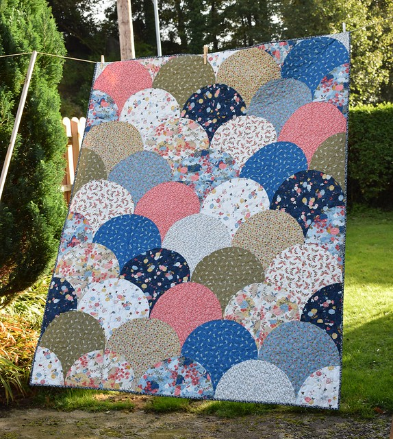 Oriental Clamshells Quilt (Popular Patchwork Jan18)