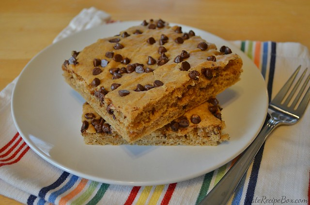 Peanut Butter Chocolate Chip Sheet Pan Pancake