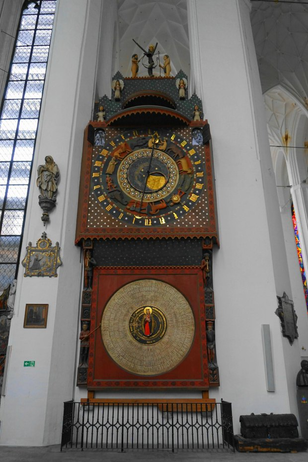 Gdańsk astronomical clock, inside St. Mary's Church