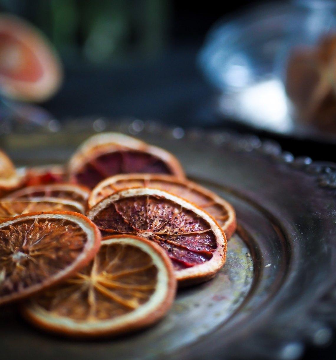 kuivatut appelsiinit