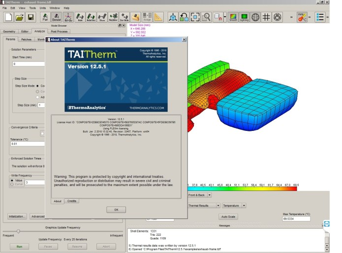Working with ThermoAnalytics TAITherm 12.5.1 full crack