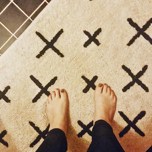 Blote voeten badmat