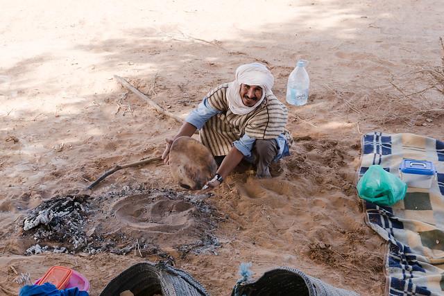 Baking in Sahara sand